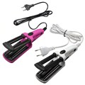 200V Hair Beauty 3 Barrel Hair Curl Iron Flat Ceramic Roller Crimper Tongs Clamp Wave Curler DIY Salon Styling Tool 2 Color