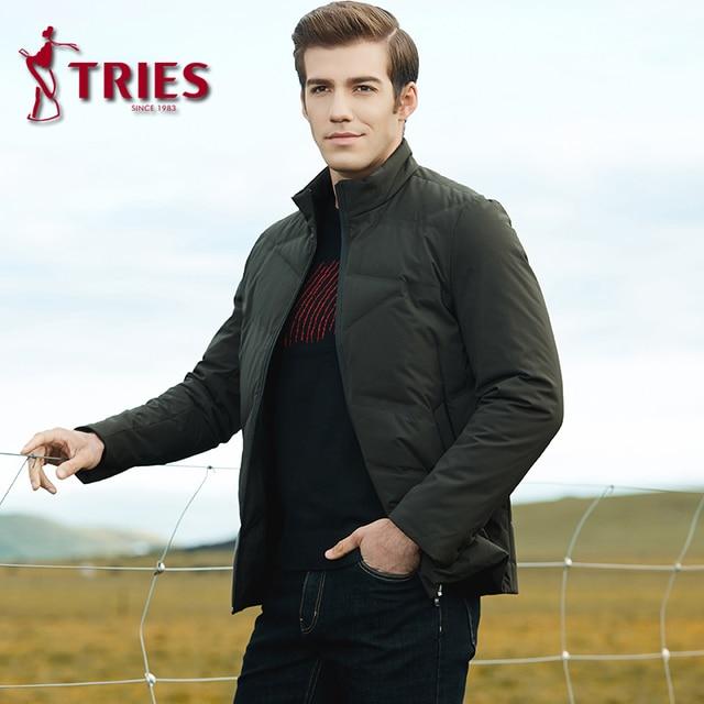 TRIES duck down jacket men winter coat men Brand mens down jacket lightweight down jacket for men Casual Outerwear mens clothing 3