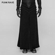 Новые Панк рейв готические вечерние ретро дворец японский косплей мужская юбка брюки эмо производительность Викторианский WQ371