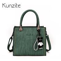 Kunzite Brand Knitting Handle Luxury Handbags Women Bag Designer Small Crossbody Shoulder Bag Sac S Main