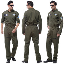 Adult Men Special Force Costume Pilot Jumpsuit for Halloween Carnival Christmas Masquerade Fantasia Fancy Dress Cosplay Clothes