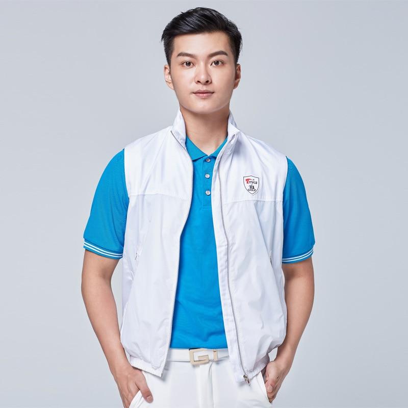 Golf Jackets For Men Sleeveless Windproof Vest Coat Mens Lightweight Soft Windbreaker Golf Apparel D0660