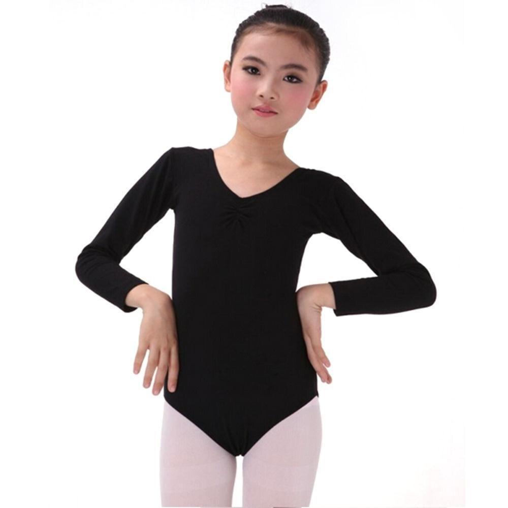 Kid Girl Long Sleeve Dance Gymnastics Leotards Ballet Leotard Dress L XL 2XL 3XL 4XL