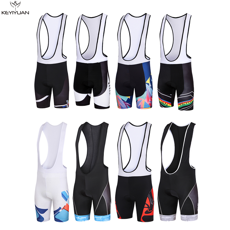 a90e8c046 KEYIYUAN Mens Mountain Bike Jerseys Bib Shorts Cycling Shorts With GEL Pad Ropa  Ciclismo Bib Shorts Size S-5XL Free Shipping