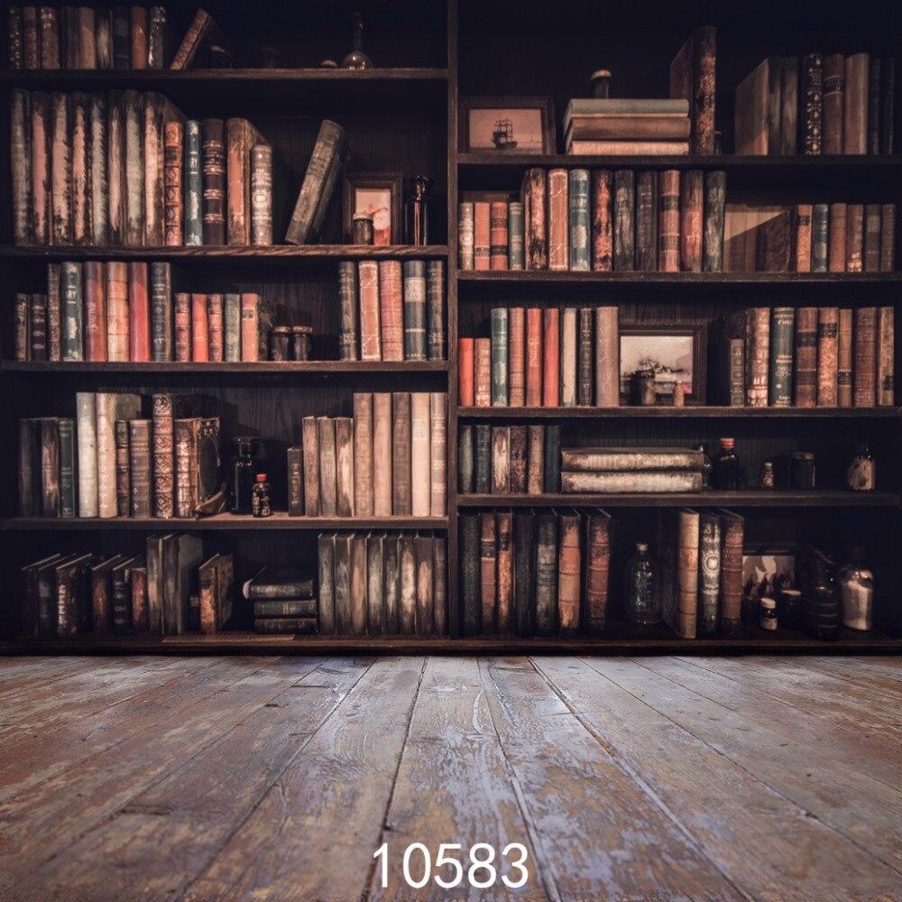SJOLOON police za knjige 10x10ft drvene podne pozadine Vinyl - Kamera i foto - Foto 2