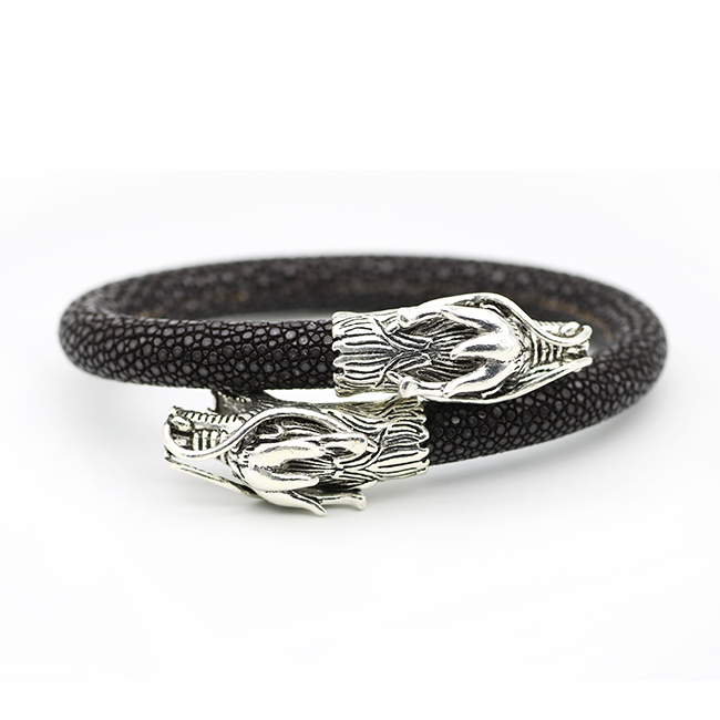 Official Website New Mens Fashion Leather Bracelet Charm Cn Dragon Knitted Round Rope Jewelry Accessories Wrist Band Accessories Magnet Clasp Jewelry & Accessories Chain & Link Bracelets