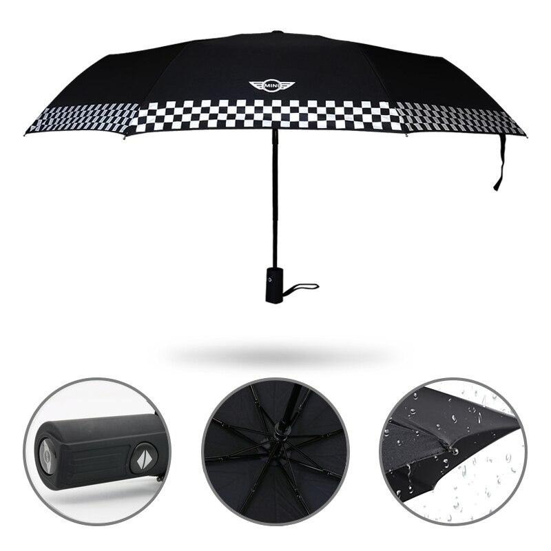 Auto Styling Regenschirm Mit Auto Logo Aufkleber Für Mini Cooper Countryman Paceman R50 R53 R56 R60 F55 F56 R58 R59 auto Zubehör