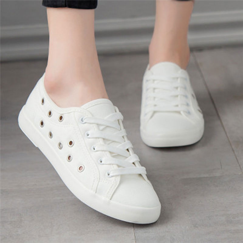 Sneakers women White Leisure walking shoes 2018 Non-slip canvas Female White Board spring casual for woman size 35-44 tenis