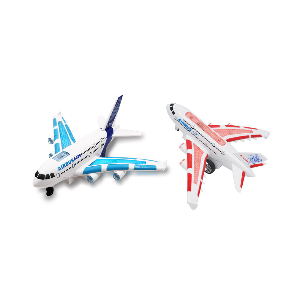 Kids Airplane Toys Airbus Electric Remote Control Model Plane with Lights Sounds  Model Kids for Children Gifts-in RC Airplanes from Toys & Hobbies