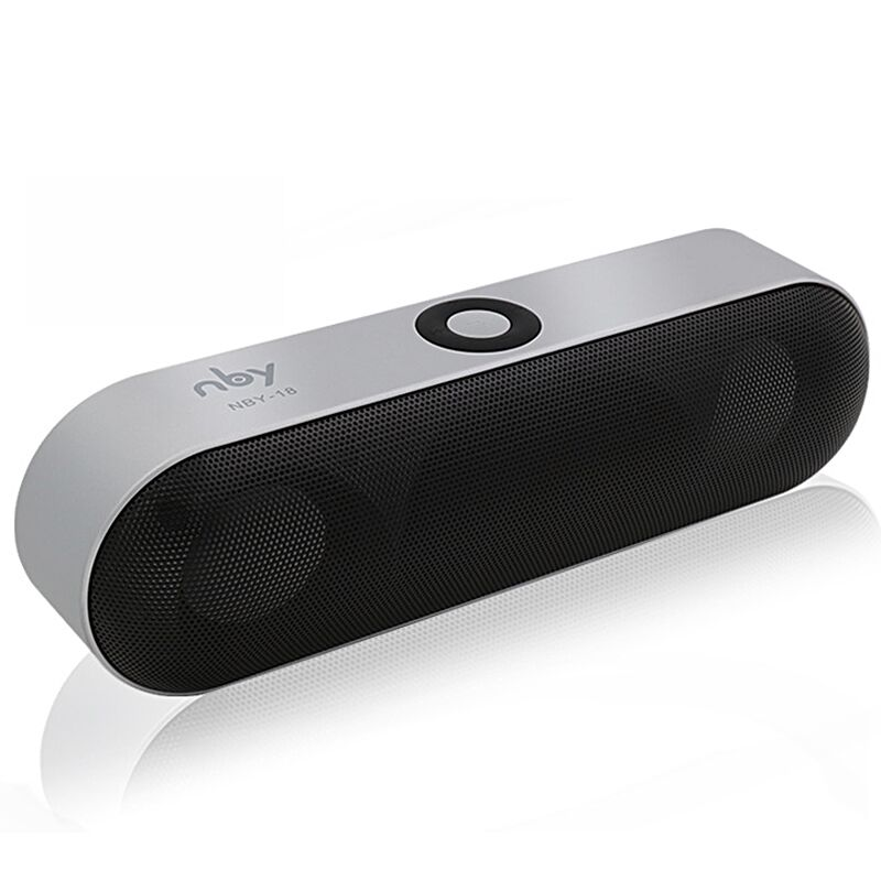 New NBY-18 Mini Bluetooth Speaker Portable Wireless Speaker Sound System 3D Stereo Music Surround Support Bluetooth,TF AUX USB(China)