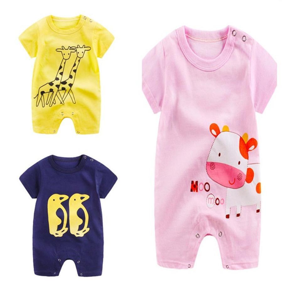 6e764979c Beautiful Newborn Infant Baby Boy Girl Cartoon Romper Cute Jumpsuit ...