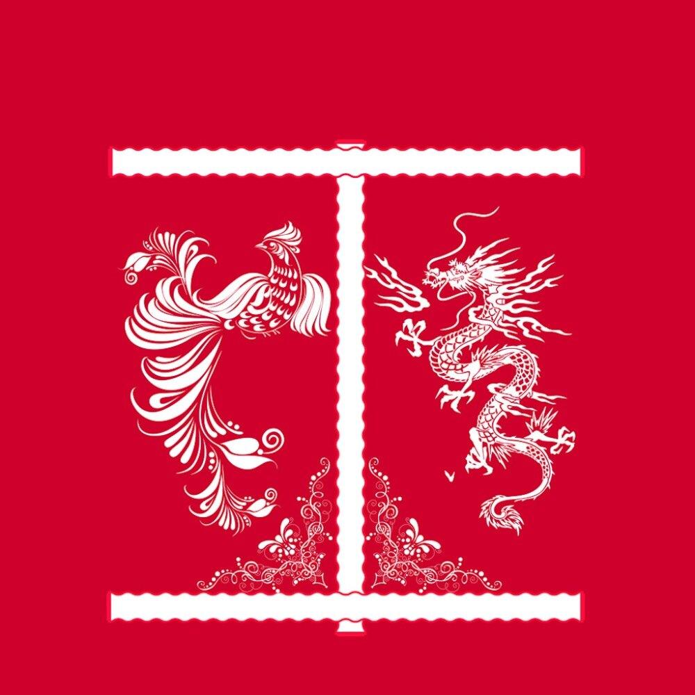 Marca de fuente de lino Real 4 piezas por juego de dragón dorado sobre hermoso fondo rojo juego de ropa de cama 3d cama 3d cubierta con sábana de cama - 6