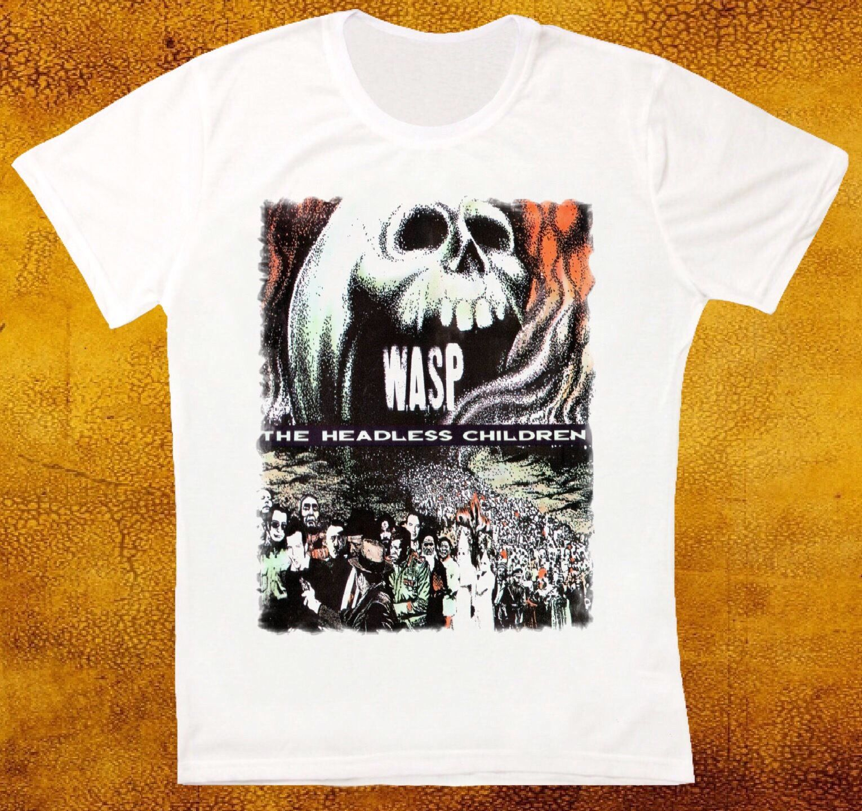 W.A.S.P. THE HEADLESS CHILDREN 89 WASP HEAVY METAL BAND RATT T Shirts Short Sleeve Leisure Fashion Summer