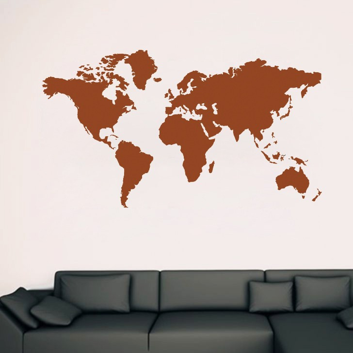 Hot sale large world map global atlas vinyl art wallpaper tattoos hot sale large world map global atlas vinyl art wallpaper tattoos sided visual pattern home decor y 255 in wall stickers from home garden on gumiabroncs Choice Image