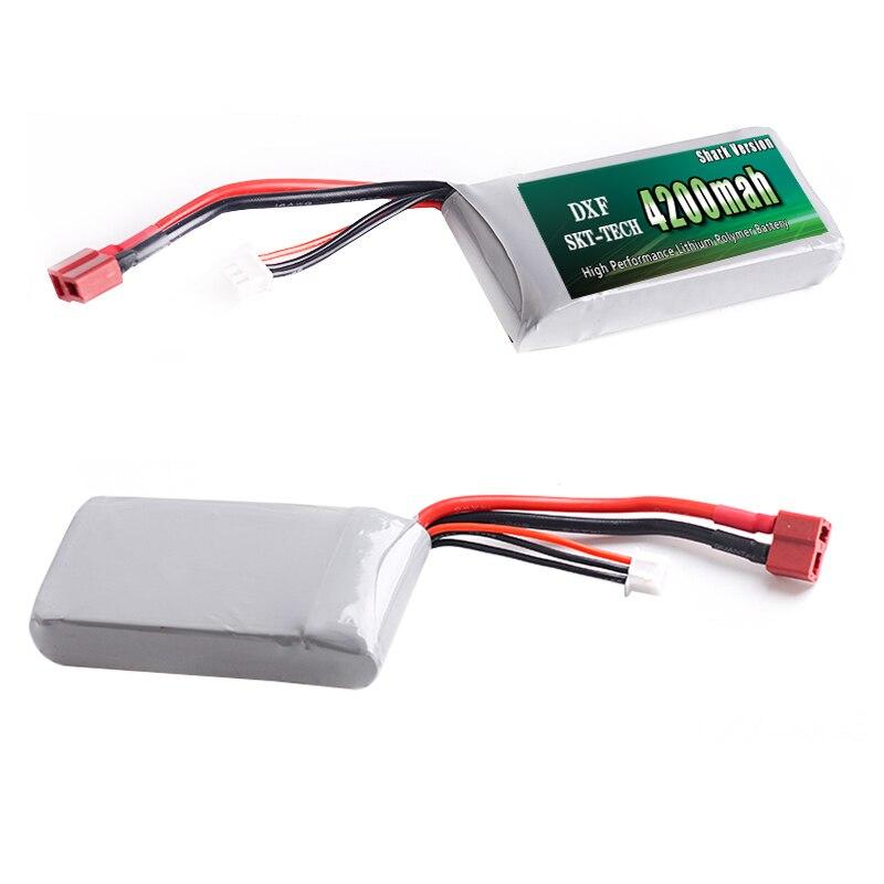 DXF Shark Version Good Quality Rc Lipo Batería 7.4V 4200mah 2S 25C - Juguetes con control remoto - foto 2