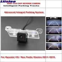 Liislee Dynamic Guidance Rear Camera For Hyundai i35 / Neo Fludic Elantra 2011~2015 HD 860 * 576 Parking Intelligentized