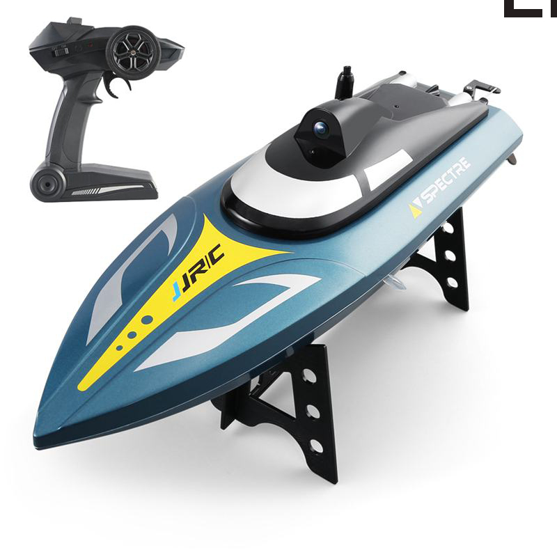 JJRC S4 Ghost 2.4G 25km/h Spectre Waterproof High-Speed RC Boat 720P HD Camera WIFI FPV App Control RTR image