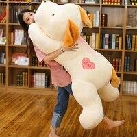 Сливочное игрушки огромный 150 см белый склонны собака плюшевые игрушки «любящее сердце» собака мягкая кукла обниматься подарок на день рож