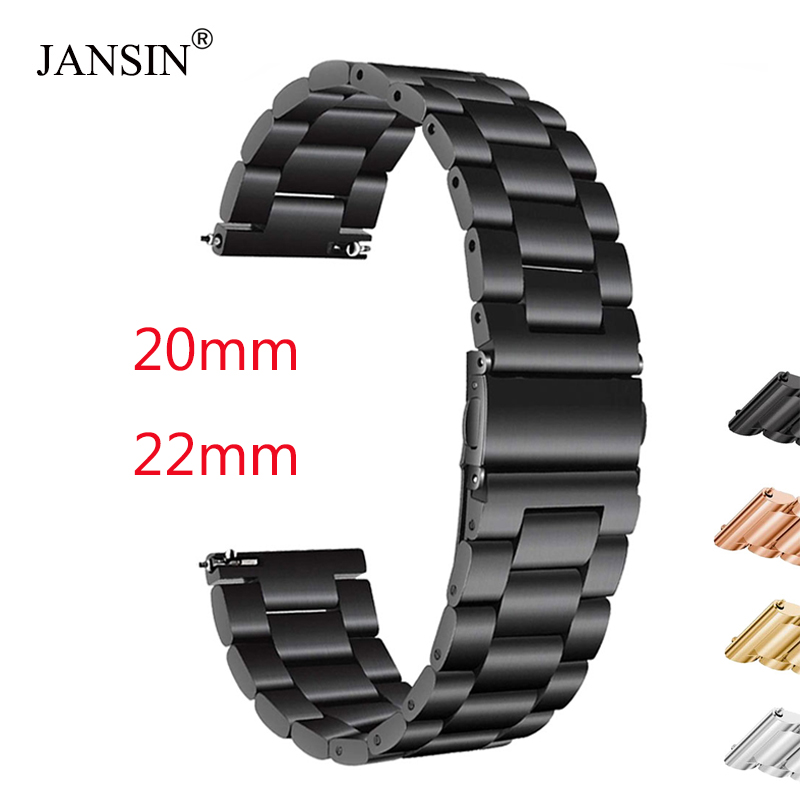 18mm 20mm 22mm Stainless Steel Strap For Samsung Gear S3/Sport/S2 Metal Watch Band For Samsung Galaxy Watch 42mm 46mm Bracelet