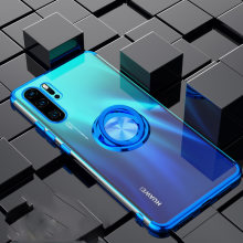 Elecplating Soft Case for Huawei P30 Pro 30Pro Mate 20 P20 Lite Nova 4 4e 3e Y7 Y5 Y6 2019 Honor V20 V10 Case Finger Ring Cover(China)