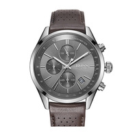 BOSS Grand Prix Men Watch with Breathable Leather Strap Sport Quartz Watches Mens Watches Top Brand Luxury 1513476