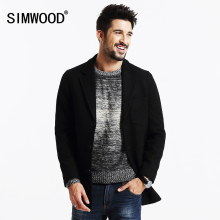 SIMWOOD New Winter Mix Wool Blends  Coats Men  trench  parka