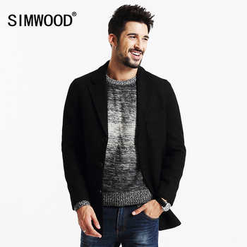 SIMWOOD New Winter Mix Wool Blends  Coats Men  trench  parkas  Fashion Warm Brand Clothing DY101 - DISCOUNT ITEM  49% OFF All Category