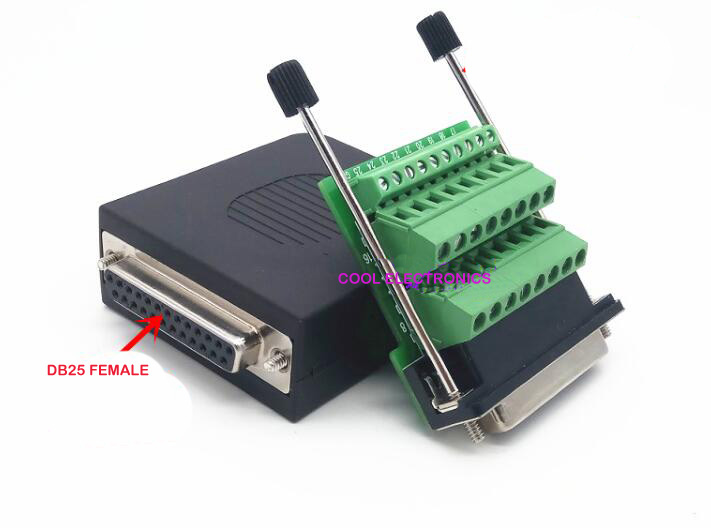 10ピース25ピンdb25ジャックプラグアダプタボードrs232シリアルに端末信号モジュールでネジ棒  グループ上の ライト & 照明 からの コネクタ の中 1