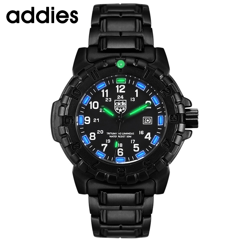 Luminous Quartz military watch waterproof 50M Sport Brand Watches Mens relojes