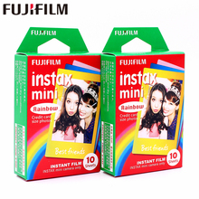 Original Fujifilm 20 sheets Instax Mini Rainbow Instant Film photo paper for 8 7s 25 50s 90 9 SP-1 SP-2 Camera