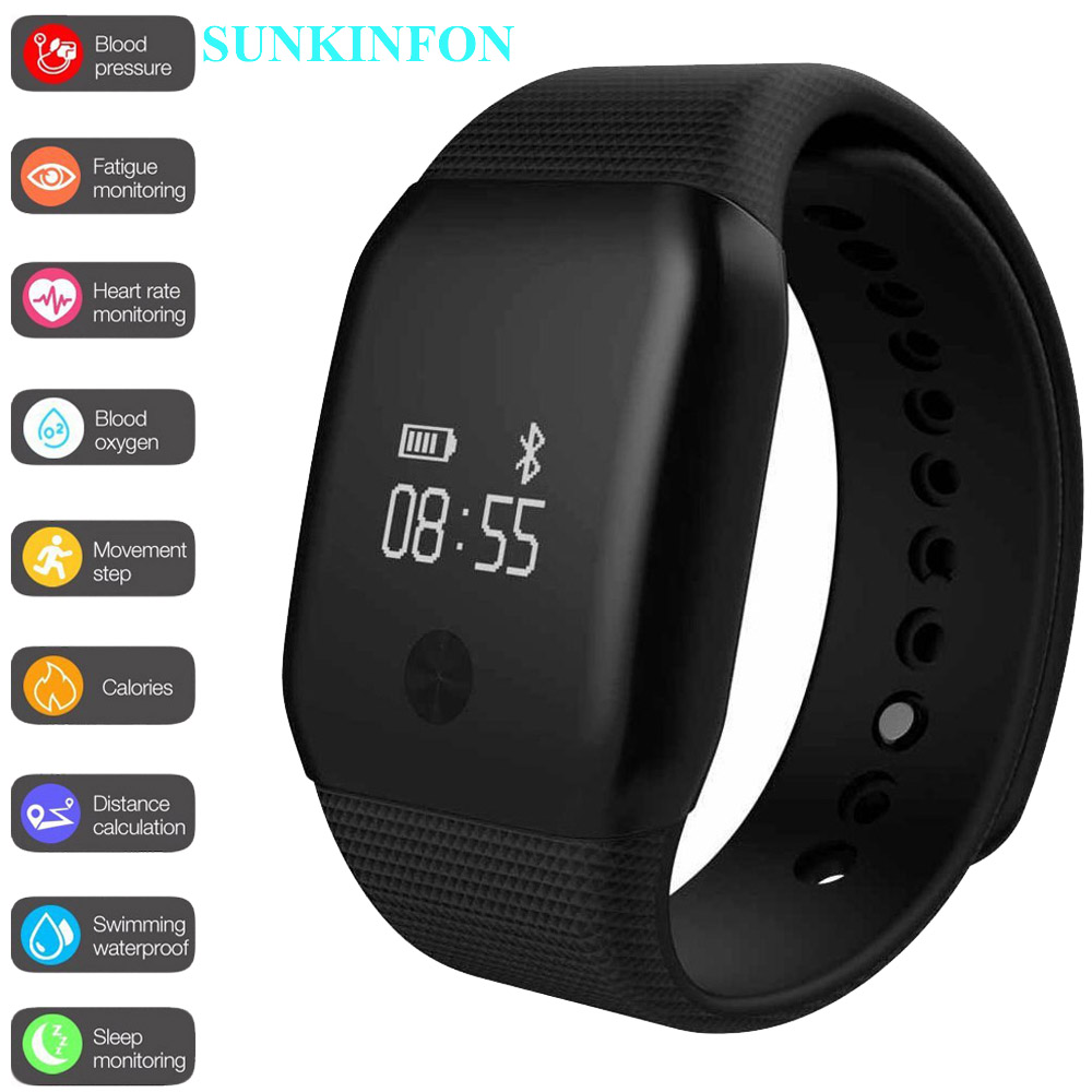 A98 Sports Smart Wristband Bracelet Watch Blood Oxygen Pedometer Fitness Heart Rate Monitor for Samsung Galaxy A9 A8 A7 A5 A3 ezon gps hrm heart rate monitor sports hiking training fitness watch calories pedometer bluetooth 4 0 smart sports watch t033