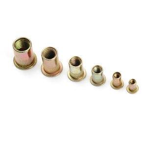 Image 4 - Écrous à Rivet, 165/210 pièces en acier au carbone, jeu de écrous à tête plate, M3 M12 écrous à rechaper, multi taille avec boîte