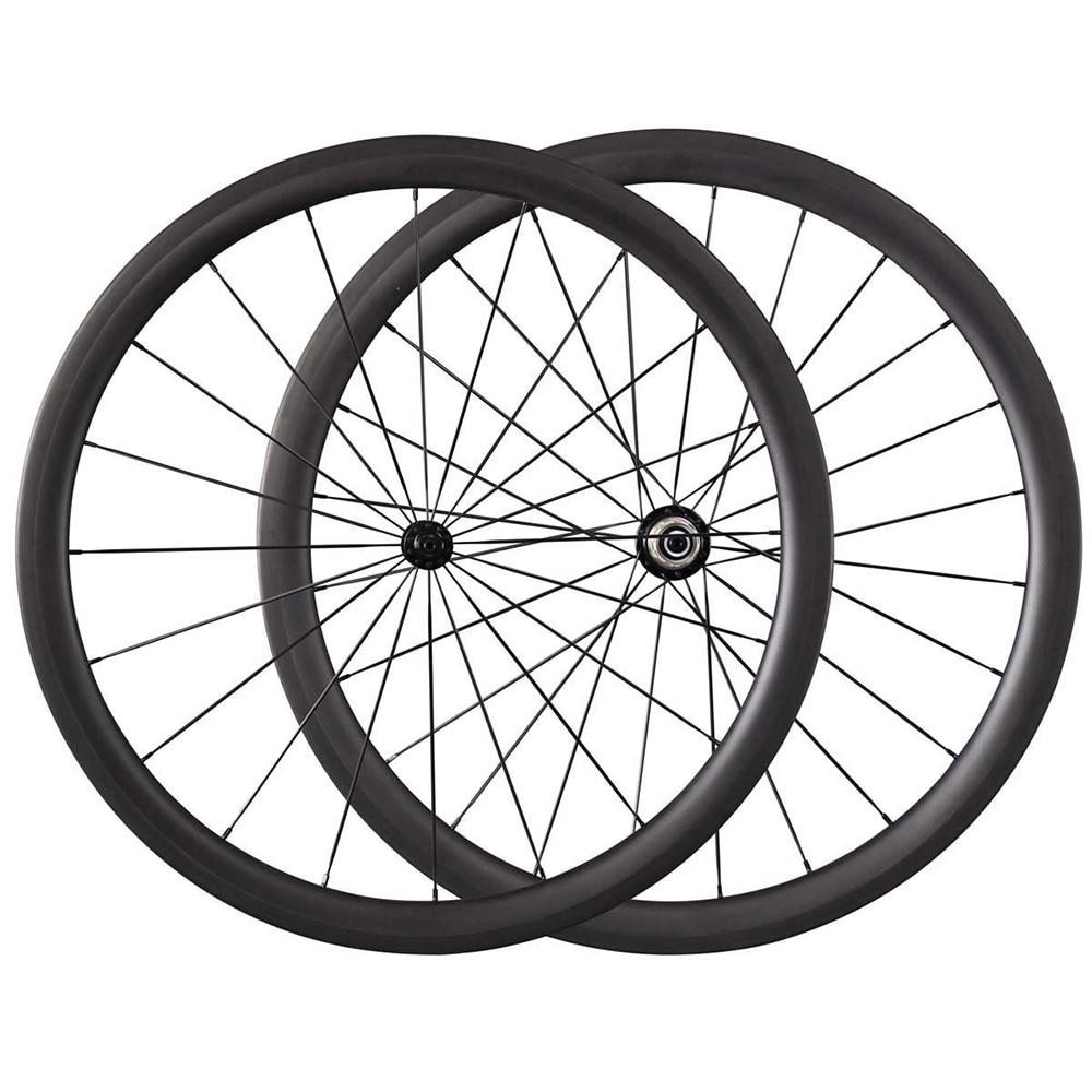 50 88mm de carbono clincher tubular roda