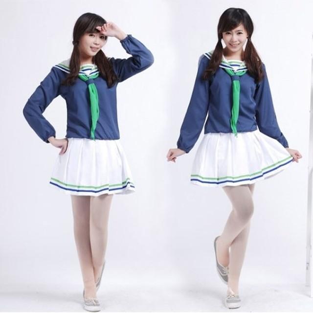 Kuroko no basuke Cosplay Seirin Aida Riko Autumn School Uniform 2nd Any Size