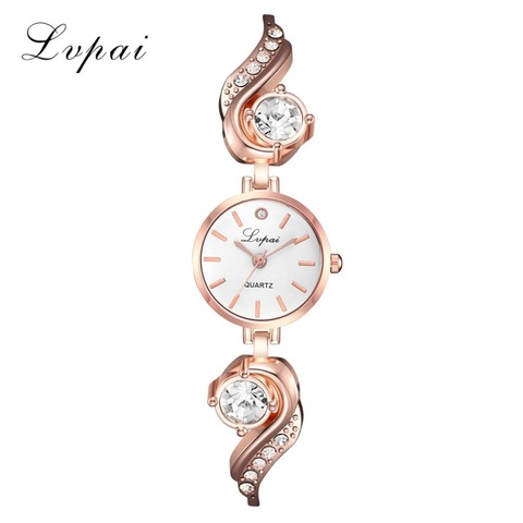 Lvpai Brand Luxury Rhinestone Watches Women Quartz Bracelet Watches Ladies Dress New Fashion Rose Gold Clock relogios kol saati Lahore