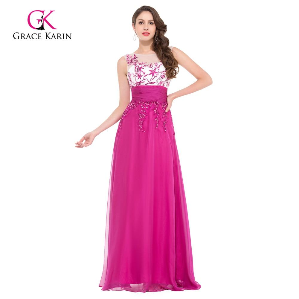 Grace Karin Evening Dress Organza Light Blue Ball Gown Long Party ...