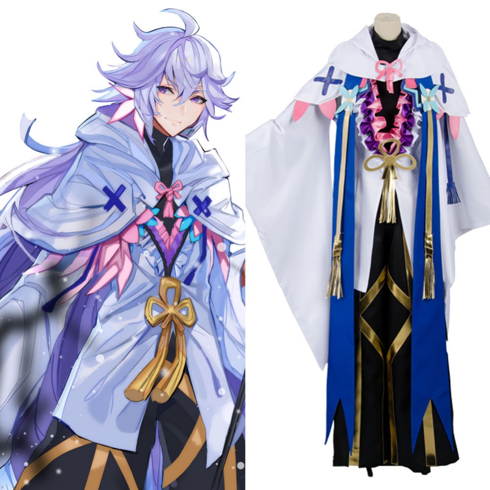 2017 Fate Grand Order Cosplay Caster Merlin Ambrosius Carnival Cosplay Costume Full Set Free Shipping