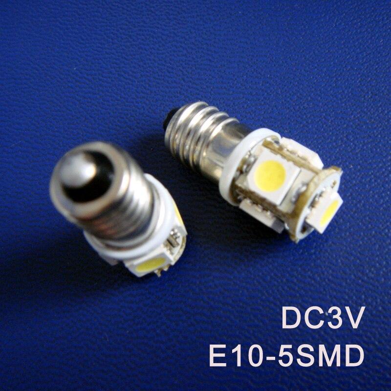 High quality DC3V E10 Led Warning Signal Indicating Lamp 3V Pilot lamp Instrument Light pinballs Bulbs free shipping 10pcs/lot