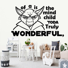 Creative jedi star wars Decal Removable Vinyl Mural Poster For Living Room Bedroom Waterproof Wall Art