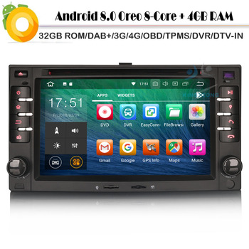 DAB+stereo Android 8.0 Autoradio Sat Nav WiFi 4G GPS Radio DVR BT OBD Car CD Player for Kia Sportage Rio PICANTO CEED EURO RONDO image