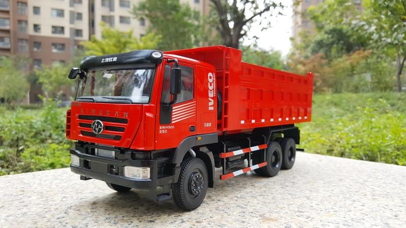 Modèle en alliage exquis 1:50 Hongyan Kinkan M500 IVECO camion à benne basculante véhicules de Construction moulé sous pression jouet modèle Collection décoration