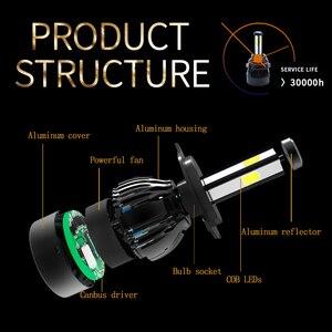 Image 5 - H4 led headlight 9004 9007 H13 H15 cob auto led Car Bulb 6000K 12V lampada light source waterproof aluminume H4 lamp