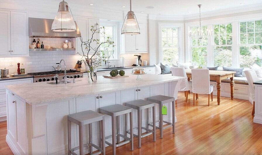 Modern Customized Whole Set Kitchen Cabinets American Style White Cabinet