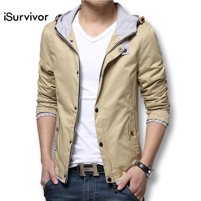 Fashion Men Jackets 2017 New Men Coats Spring Autumn Casual Jackets Coats Slim Fit Cotton Plus
