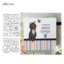 JC Metal Cutting Dies and Rubber Stamps for Scrapbooking Craft Cut Cat Dog Animal Card Making Stencil Album Decor Sheet