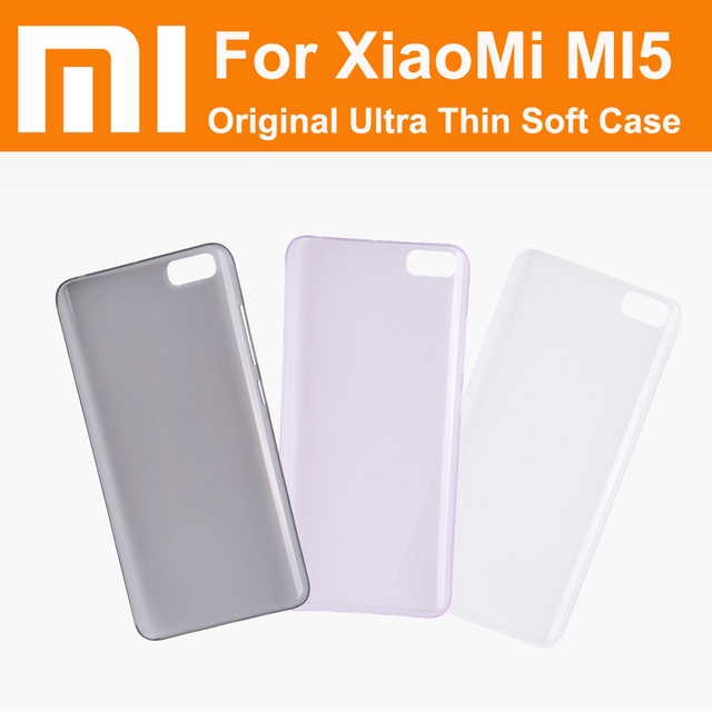 "xiaomi mi5 case 100% Real original case clear lucent soft ultra thin back cover for xiaomi mi5 prime 5.15"" pro"