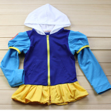 Autumn Girls Coat Snow Queen Elsa Anne Outwear Coat Cotton B