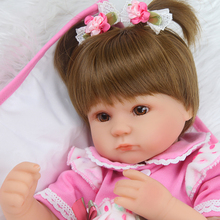 40cm Silicone Reborn Baby Doll kids Playmate Gift For Girls 16 Inch Baby Alive Soft Toys For Bouquets Doll Bebe Reborn