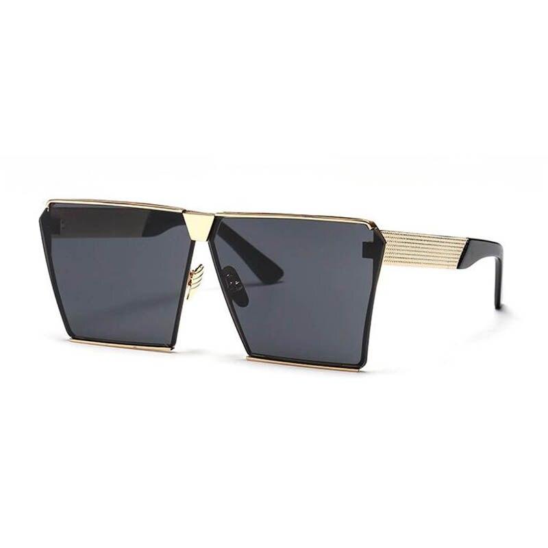 Praça Das Mulheres Dos Homens Óculos De Sol de Marca Designer de Hip Hop Da  Moda Oversize Escudo Óculos Retro Quadros de Óculos Lady Feminino Rocha  Plana 5ba915def8