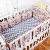 5 шт./компл. детская кроватка Постельное белье s, Корона Тип новорожденных Детская кроватка постельное белье, 100% хлопок кроватки Постельное б